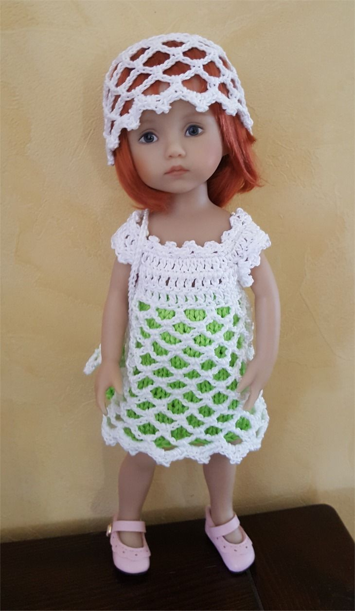26- FICHE PATRON TRICOT et CROCHET Ensemble Anis pour poupée Boneka : Jeux, jouets par atelier-crochet
