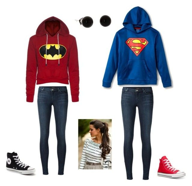 """""""Batman vs superman"""" by sydneetaylor23 on Polyvore featuring Converse and J Brand"""