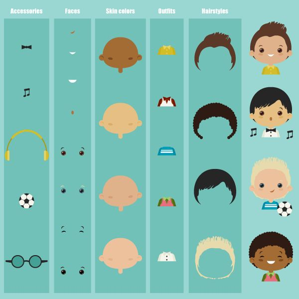 How to Create a Character Kit in Adobe Illustrator Tutorials Character Flat Graphic Design Illustration Illustrator Tutorial