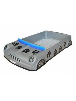Kitty Can Sport - Cat Litter Tray. Available in Silver, White, Beige