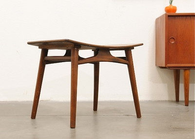 1950s Mid Century Danish Modern Stool Chair Bench Ottoman Eames Era
