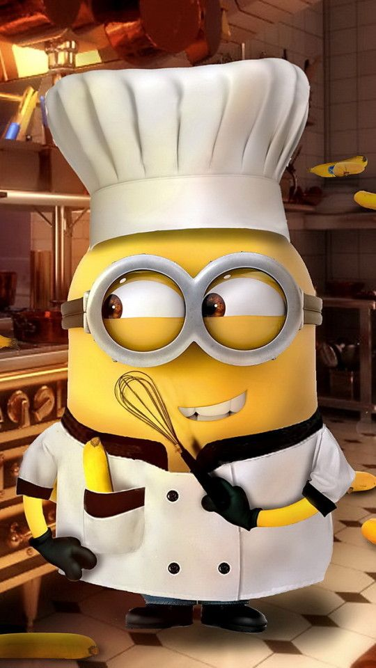 MINION CHEF, IPHONE WALLPAPER BACKGROUND