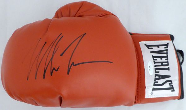 Mike Tyson Autographed Red Everlast Boxing Glove TriStar #7827166