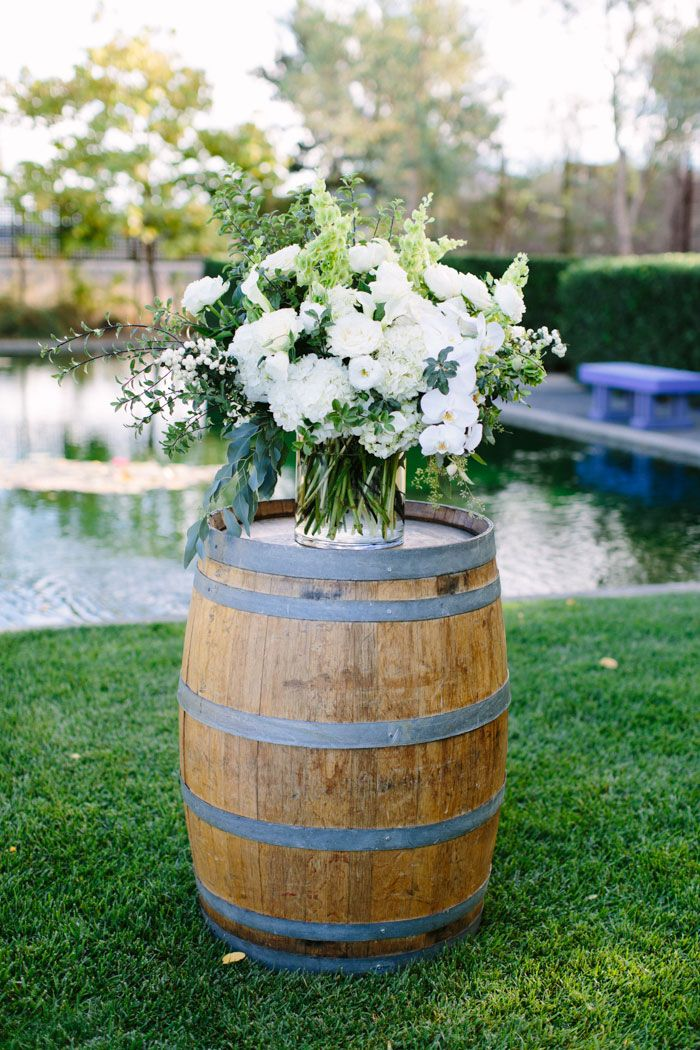 Liz and Andrew decided on the incredibly scenic Cornerstone Sonoma as the backdrop for their wedding. Courtney, of A Savvy Event, wove the couple&