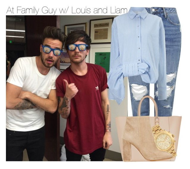"""At Family Guy w/ Louis and Liam"" by anavi-magdalene ❤ liked on Polyvore featuring Topshop, Victoria Beckham, Victoria, Victoria Beckham, Michael Kors and Gianvito Rossi"