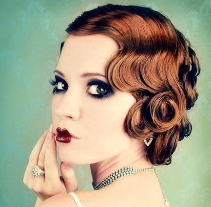 Vintage Auburn Pin Curls | Formal, Wedding | Careforhair.co.uk