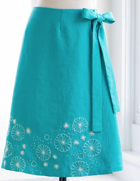 Broderad kjol