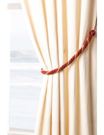 """#DecoWindow #Tiebacks Rope 4ply 24"""" Tieback Burgundy/Gold Mix at only Rs. 499"""