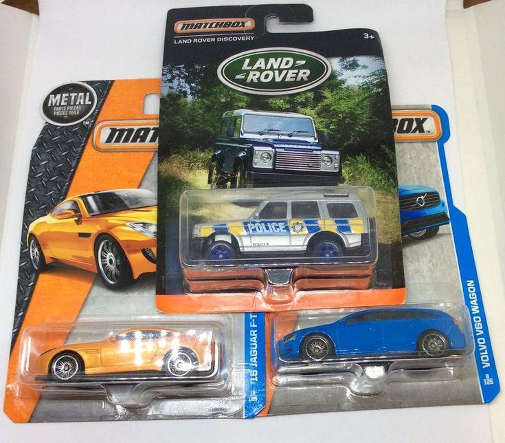 Matchbox Cars Land Rover Volvo V60 Jaguar F-Type Dinky Cars Mattel Toys | eBay
