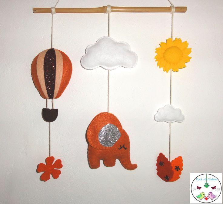 Les 17 meilleures id es de la cat gorie mobiles d 39 l phant for Decoration murale elephant
