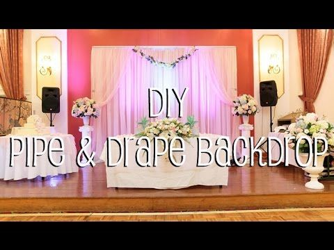 learn how to setup pipe u0026 drape backdrop in 4 easy