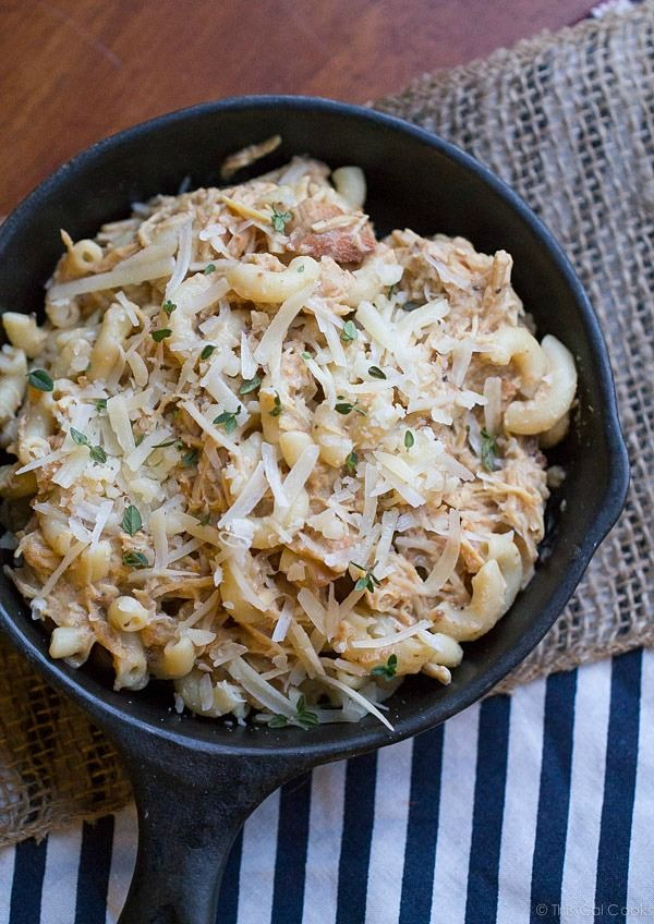 All Good Eats This cheesy, creamy Crock Pot Italian Chicken Pasta is a must try easy dinner recipe! Made healthier with Greek yogurt.   This Gal Cooks