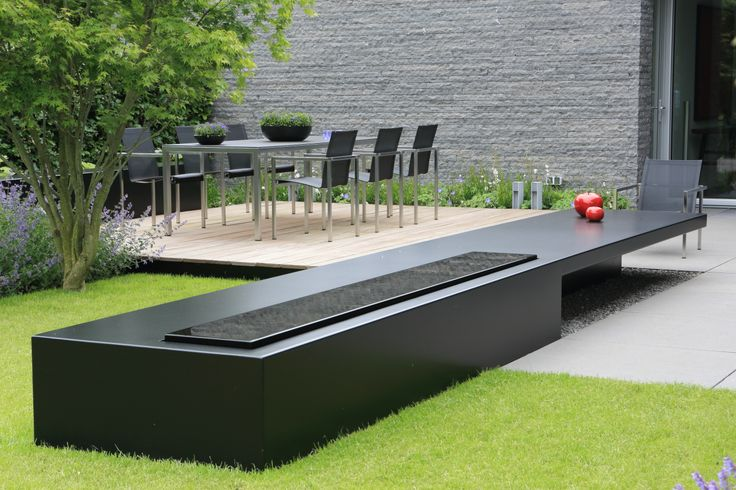 Waterelement salontafel tuin pinterest for Tuinarchitect modern strak