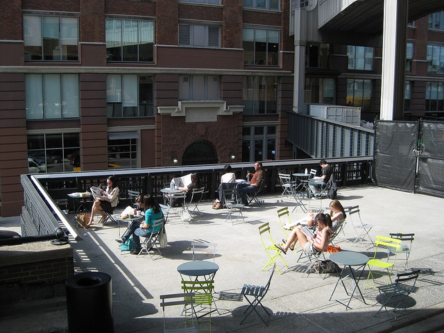 Highline Park, outdoor seating, NYC