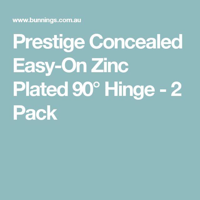 Prestige Concealed Easy-On Zinc Plated 90° Hinge - 2 Pack