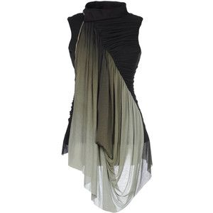Rick Owens beautiful black top with ombre drape