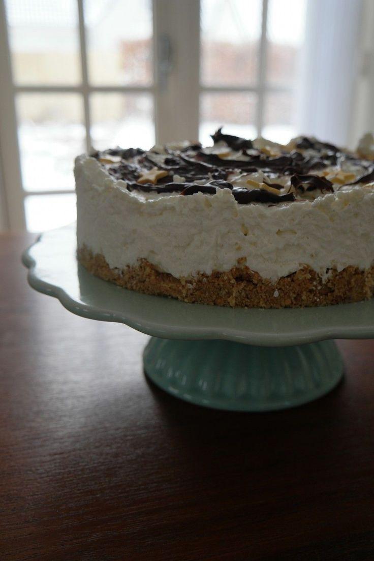 Bounty cheesecake - opskrift på simpel kage