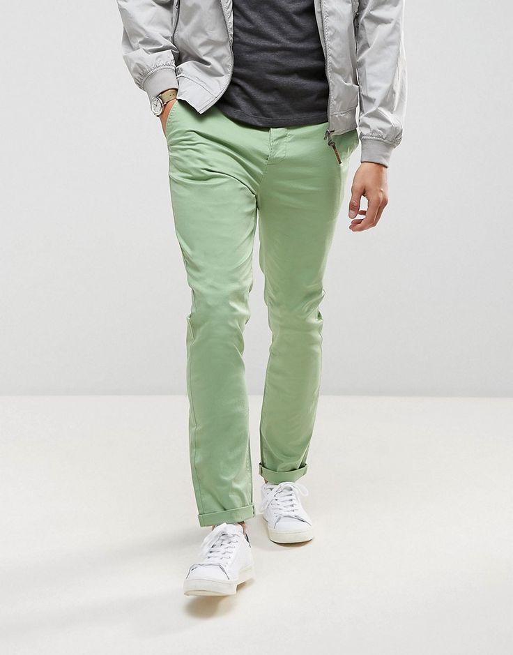 ASOS Skinny Chinos in Light Green - Green