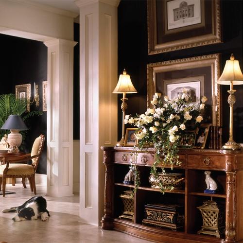 Elegant black walls with white accents general paint decor colour design
