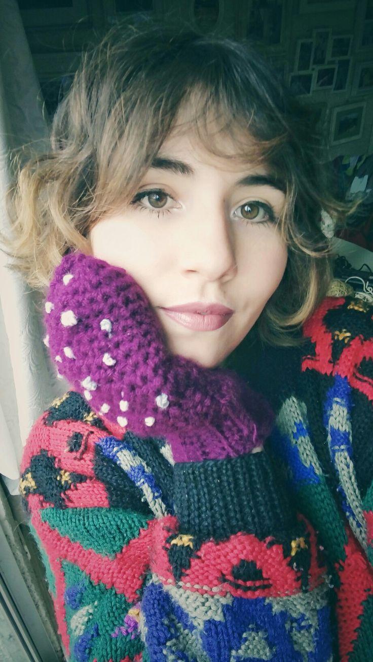 Mitones tejidos a crochet  Crochet mitts