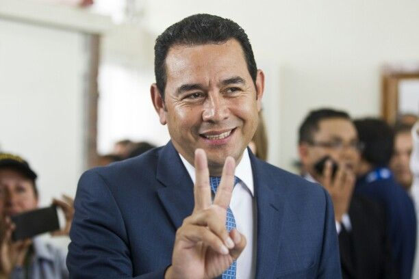 Top Trend on #Trendstoday App #Facebook (USA)   Jimmy Morales: Jimmy Morales and his wife #Gina after #winning the #Guatemalan election on #Sunday. Get #Trendstoday App For More Updates.