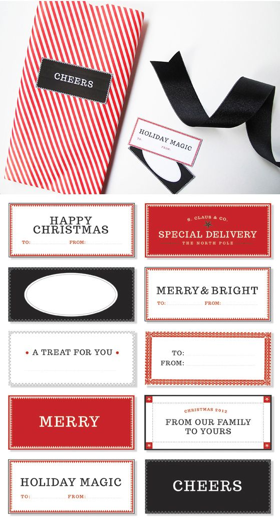 Free printable mercantile-inspired tags from Design Editor