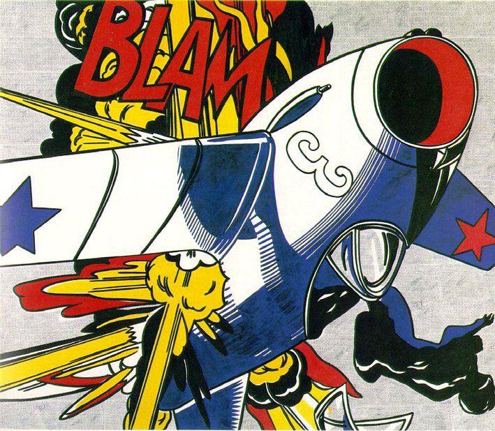 V/ LE XXe SIÈCLE ET L'ART CONTEMPORAIN LE POP ART Lichtenstein Blam (1962)