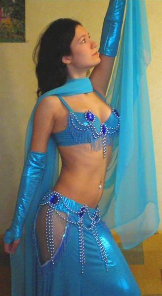 Рисунок для синего костюма для восточного танца