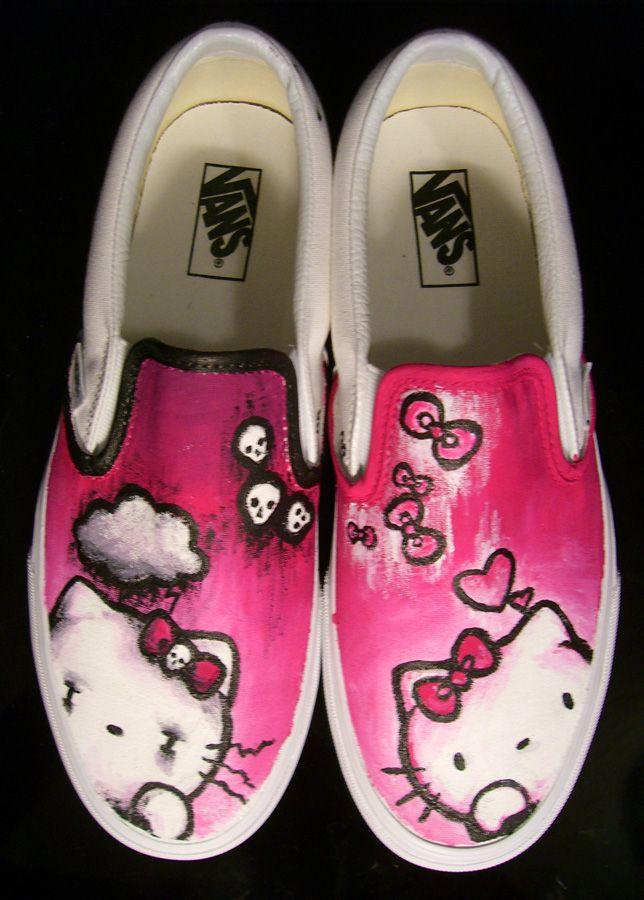 Hello Kitty Art   Hello Kitty Vans by ~SwissDutchess