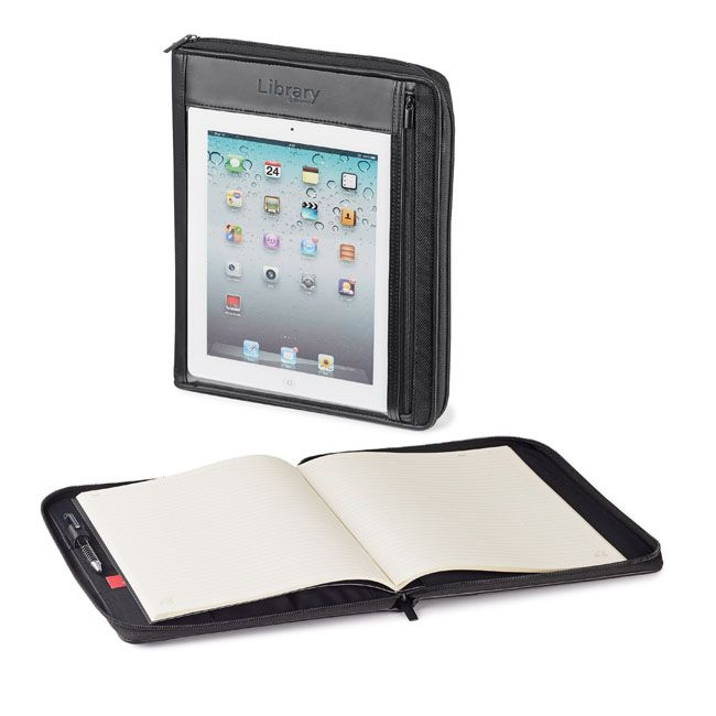 'Lonai' Tablet Holder with Refillable Journal. - quality promotional products from a truly Canadian company - from My Next Promo. With today's latest introduction of iPad Mini's from Apple perhaps you should look at these great cases to keep everything together and branded with your logo?