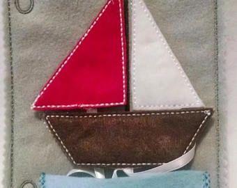 VENTA fieltro formas vela barco tranquilo libro página 3 diferentes formas para que coincida con #QB97