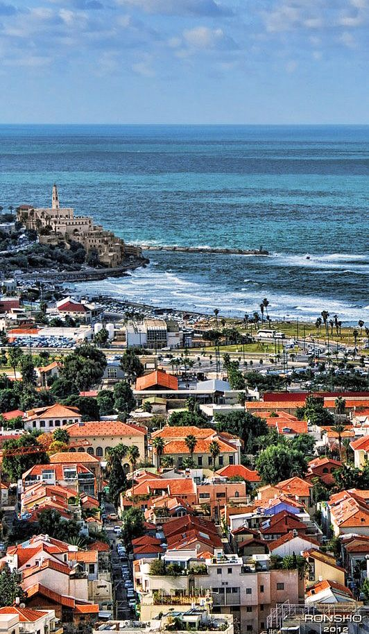 Beautiful view over Tel Aviv and Jaffa. Exploring Jaffa: Israel's Ancient Port City