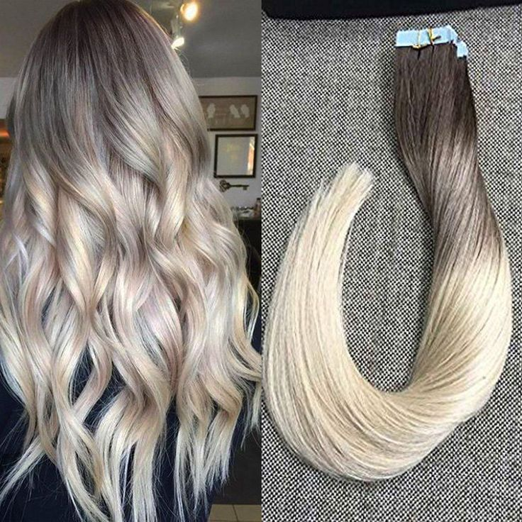 """Full Shine 20"""" 20 Pcs 50g Per Package Color #7B Fading to Color 613 Highlighted Salon Quality Balayage Extensions Remy Tape in Hair Extensions Human Hair"""