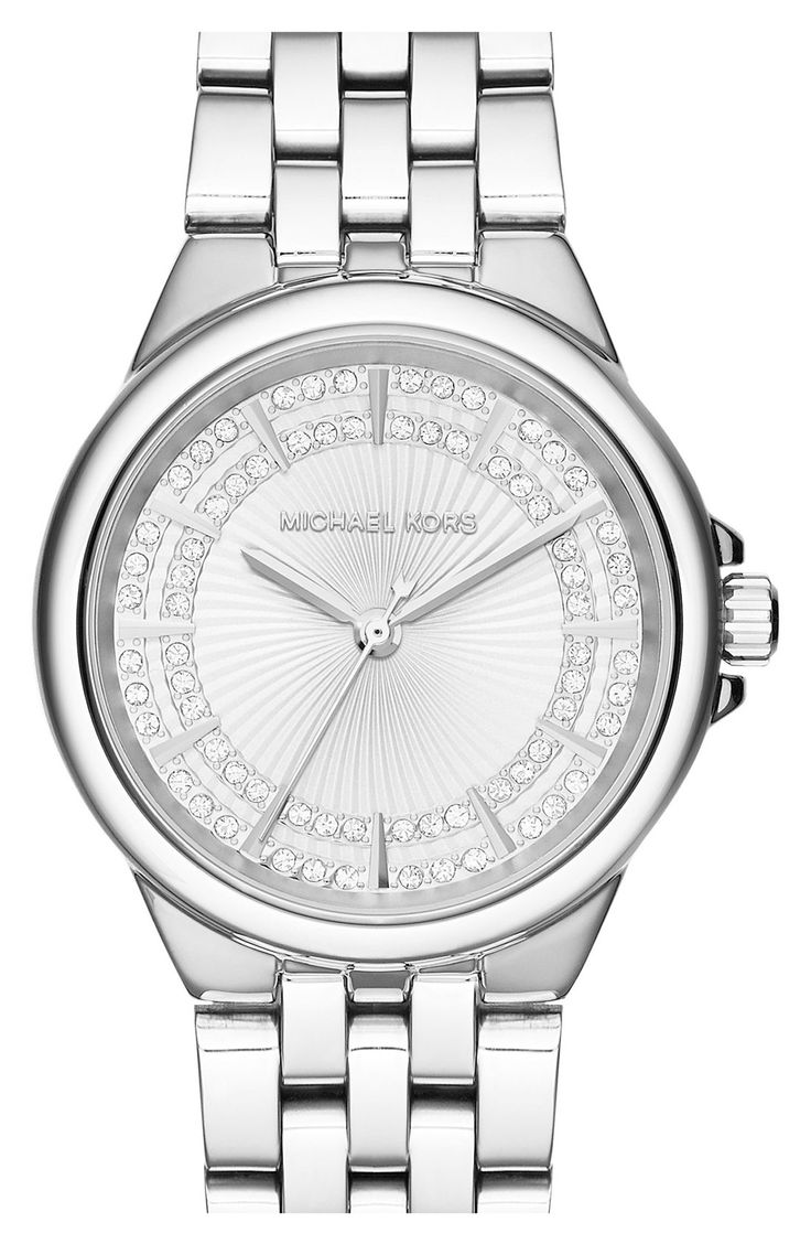 Totally crushing on this glittering crystal Michael Kors watch.