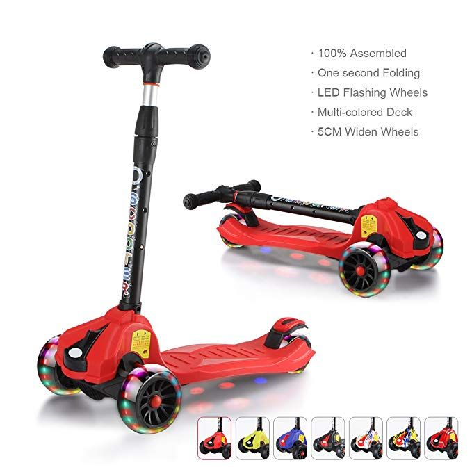 3 Wheels Folding Child Toddlers Scooter Adjustable Height For Boy and Girls