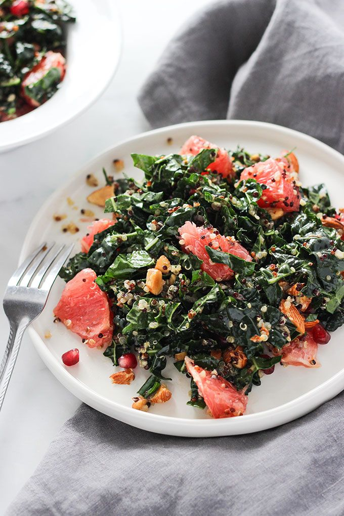 Grapefruit Kale Salad recipe | Gluten-Free, Vegan