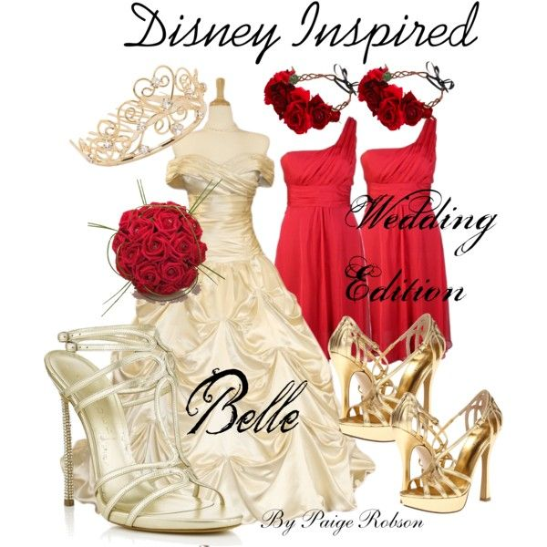 Simple  Disney Inspired Wedding Edition Belle by paige robson on Polyvore