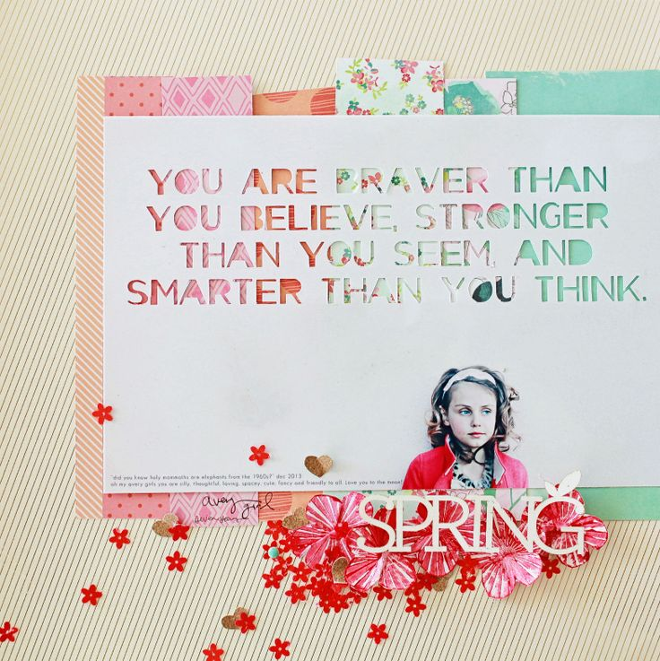 Braver Than You Believe by dearlizzy at @Studio_Calico 12x12 scrapbook layout #SCofficehours