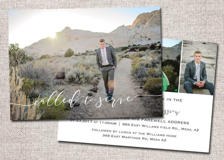 LDS Missionary Farewell invitation Missionary farewell