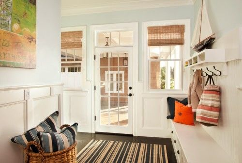 oh my yes...Interior Design, The Doors, Mudroom, Beach Style, Woodlawn Blue, Interiors Design, Mud Room, Garrison Hull, Benjamin Moore