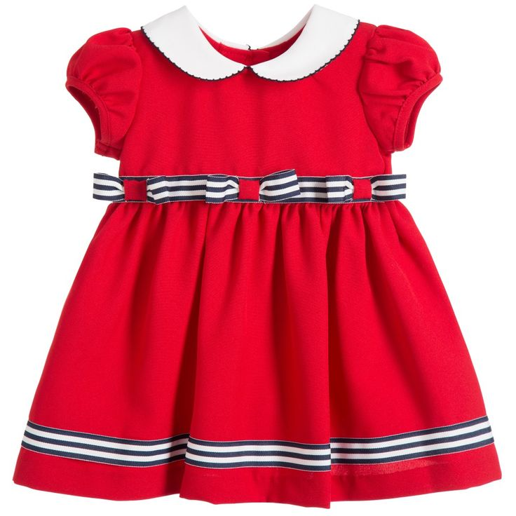Bonnie Jean SS 2016 ***  Baby Girls Red Dress & Knickers Set with Bows at Childrensalon.com