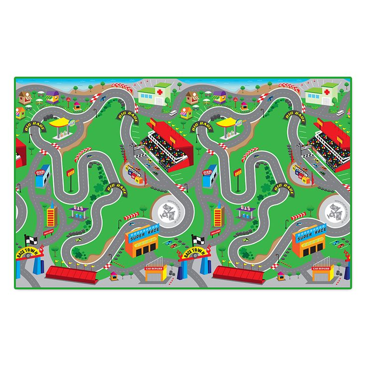 """Playmat Road Print 