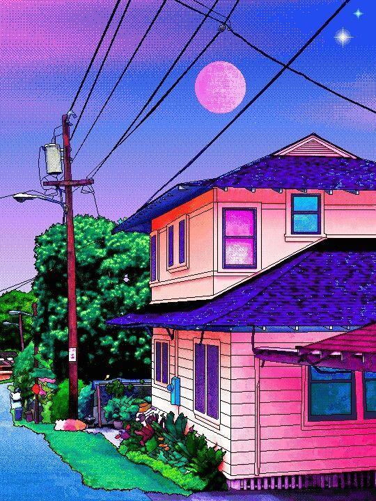 Image result for vaporwave 16 bit art japan Vaporwave