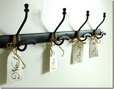 numbered coat hooks by rosa