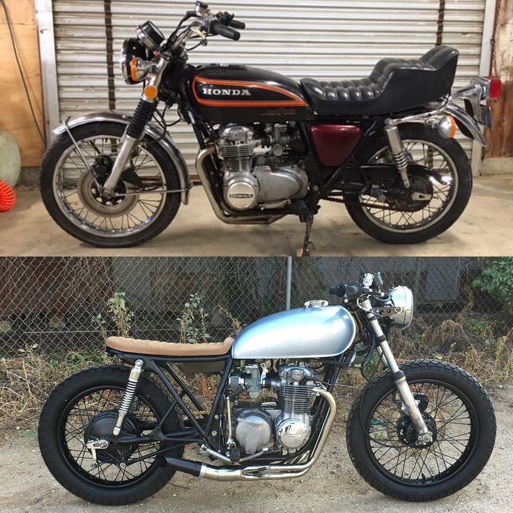 BEFORE & AFTER: We build cafe racers! Order one today…
