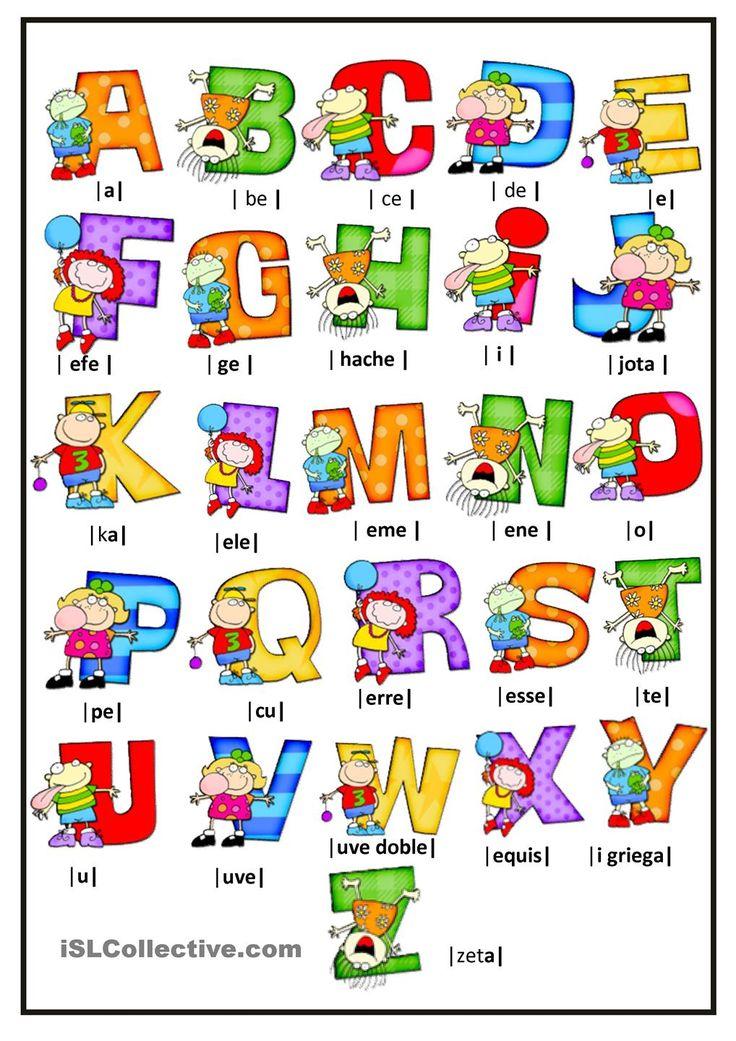 Las 25 mejores ideas sobre letras del alfabeto en - Letras decorativas para ninos ...