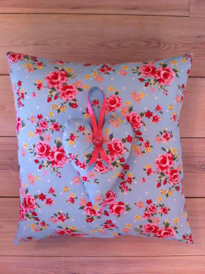 CK style cushion and matching heart