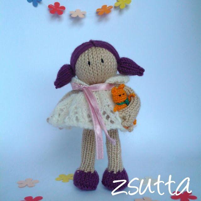 zsutta: Egészen Panka Handknitted doll