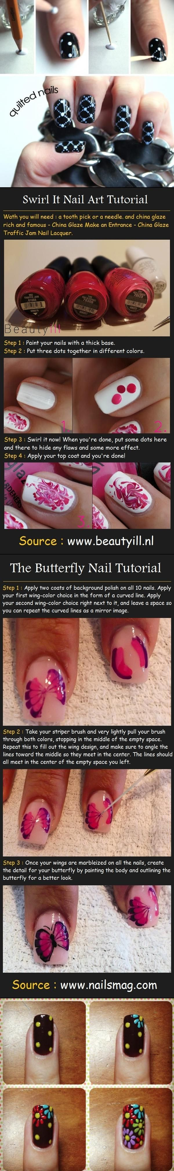 Lots of Nail Art Designs I love!!! <3<3<3 These are for the beginner with no special tools needed!