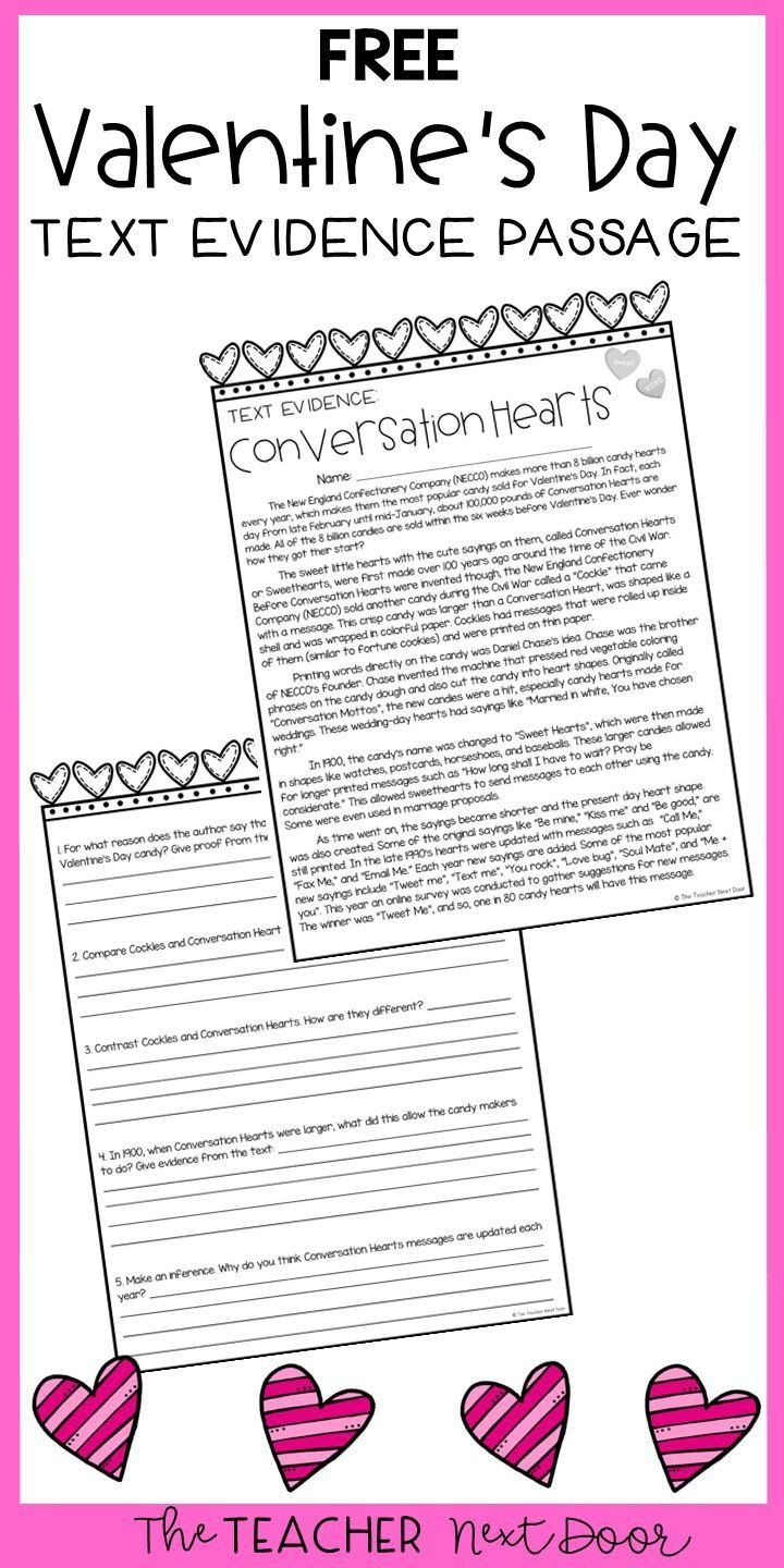 Text Evidence Worksheets 4th Grade Freebie Text Evidence